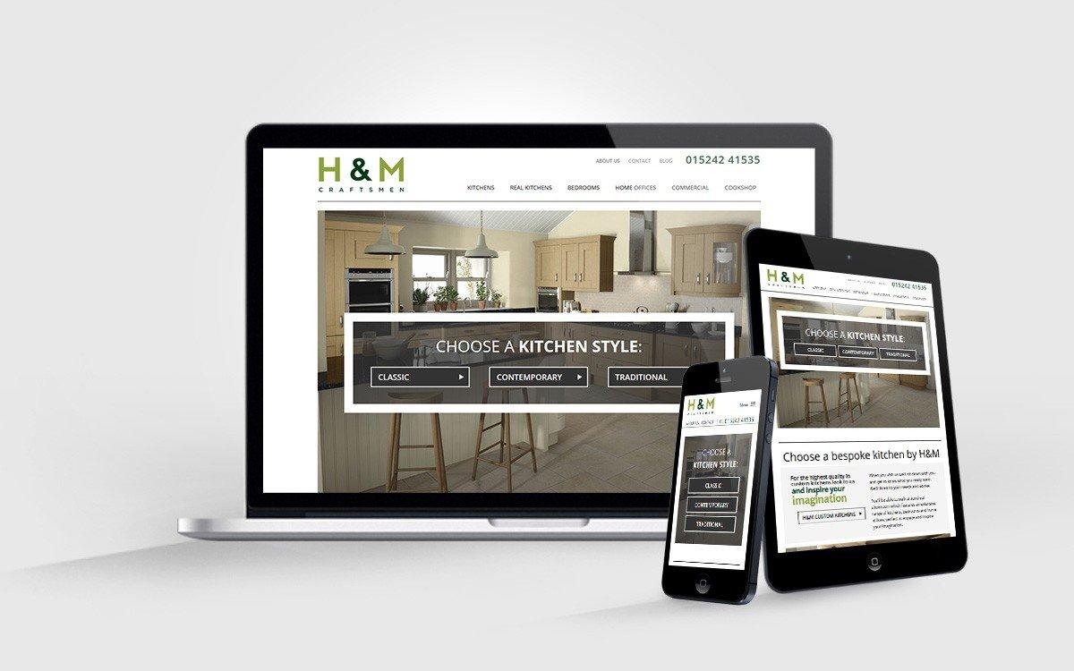 H & M Craftsmen - Custom Kitchens Website Design (WordPress) - Adam ...